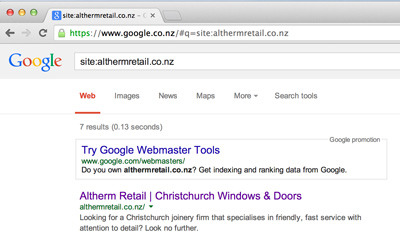 Why is my website not in the Google search results?