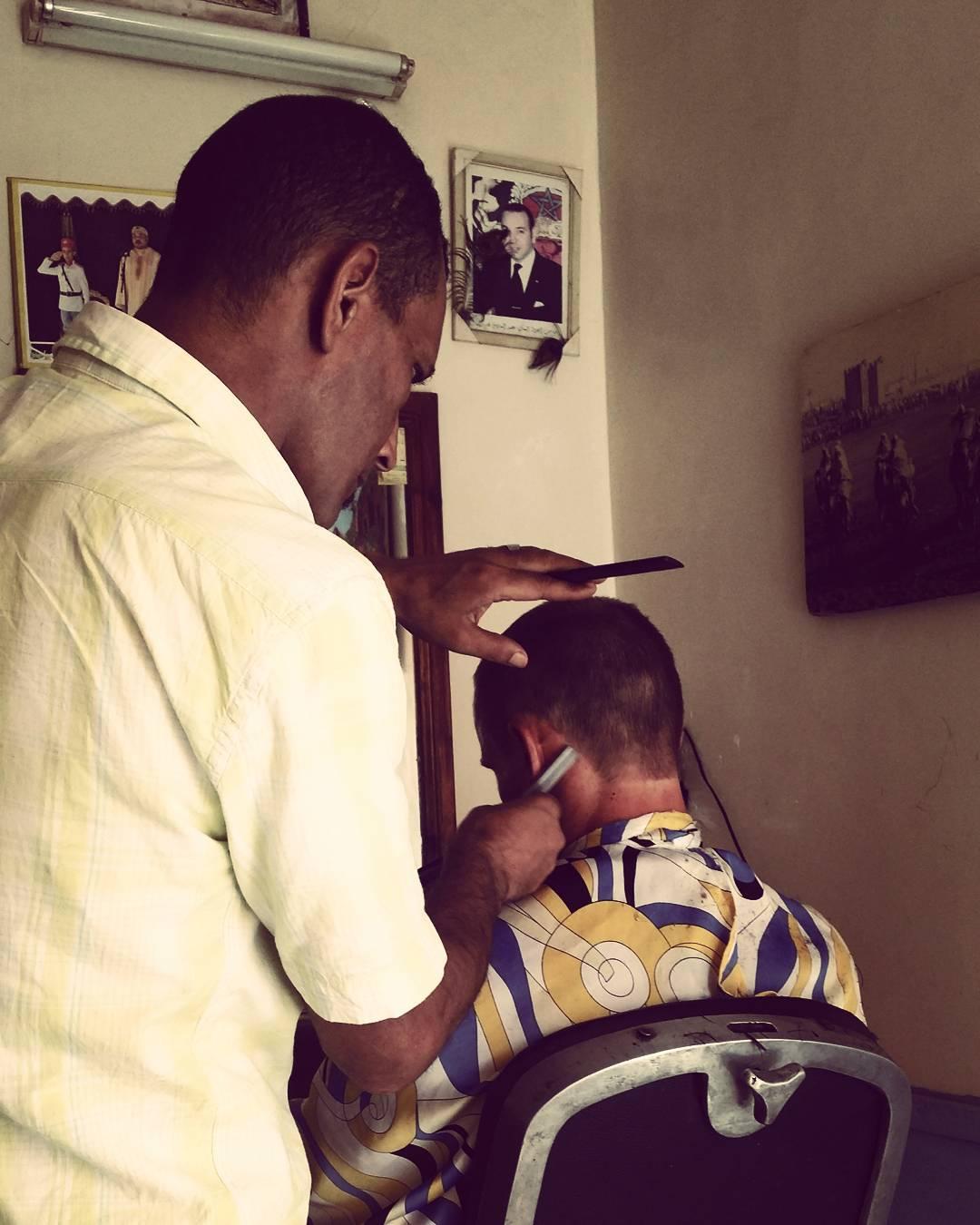 Getting a haircut in Marrakesh